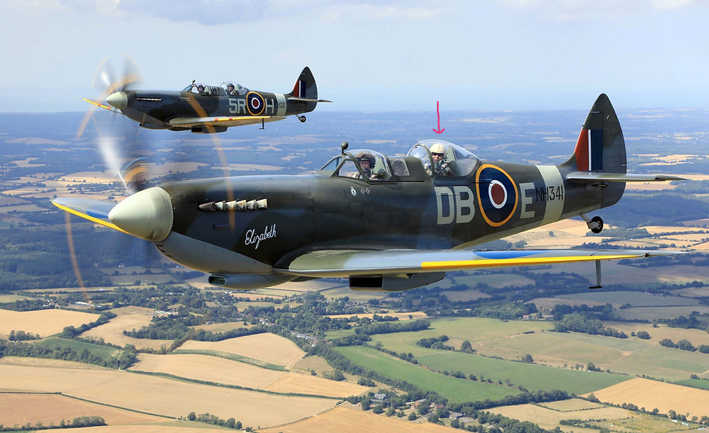 Spitfires in Formation with Roy Slim