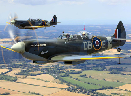 Flying the Tiger Moth, Harvard and Spitfire with Aero Legends.