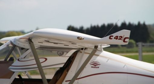 The Ikarus C42C has redesigned winglets and a GRP leading edge.