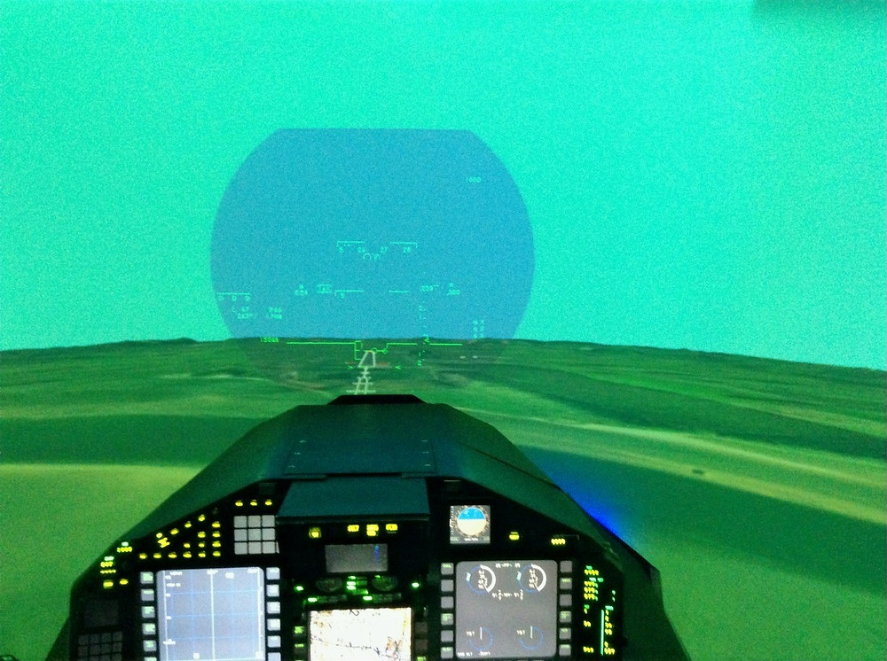 Final approach to RAF Leuchers in the Eurofighter Typhoon simulator