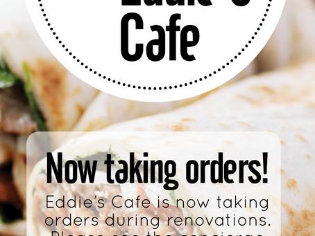 Eddie's Cafe TAKING ORDERS DURING RENOVATION