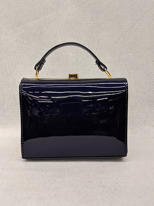 Midnight Blue Patent Leather Clutch