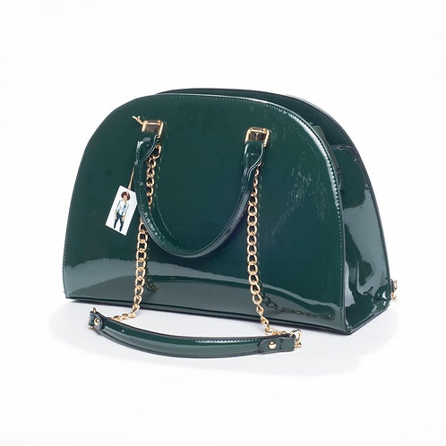 Hunter Green Bowler Bag