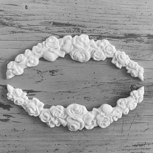 Arched Cluster of Rose Swags Applique -2