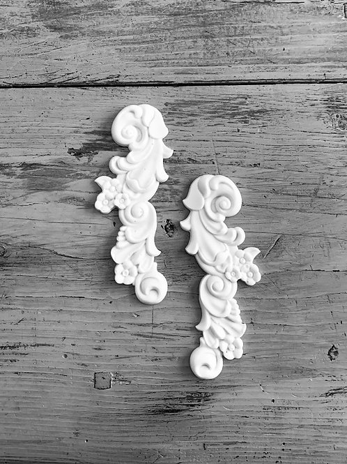 Pair of Ornate French Applique's
