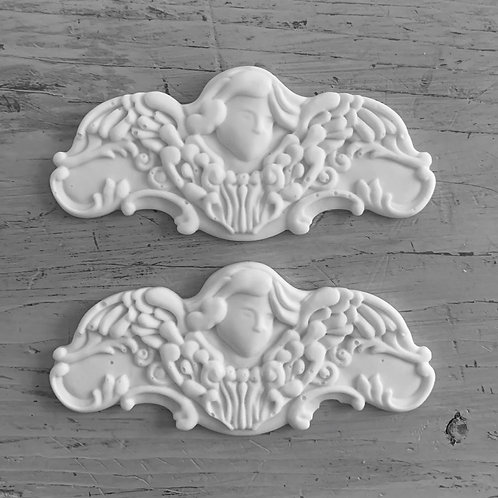 Pair of Old French Angel Applique's