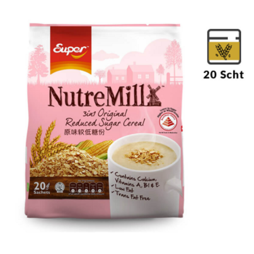 Super NutreMill 3 in 1 Reduced Sugar Cereal 20's
