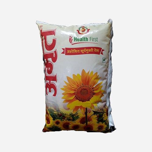 Amrit Sunflower Oil 1 Ltr (10 packets)