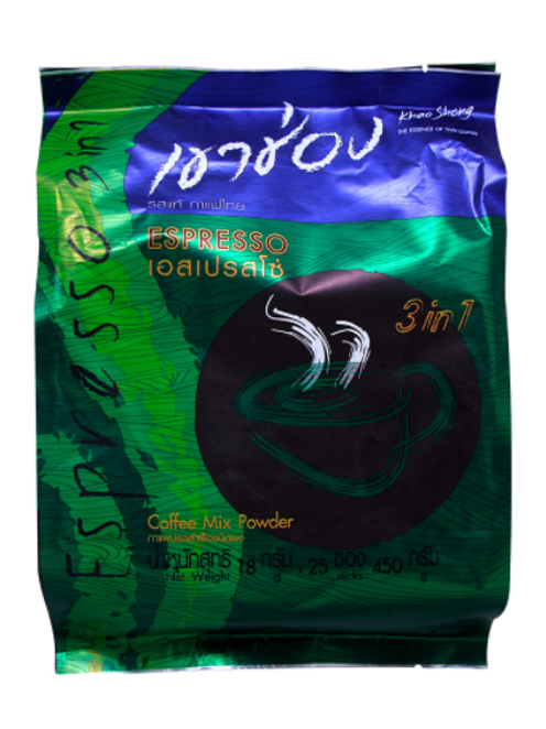 Khao Shong Coffee Mix 3 in 1 Espresso 450 gm