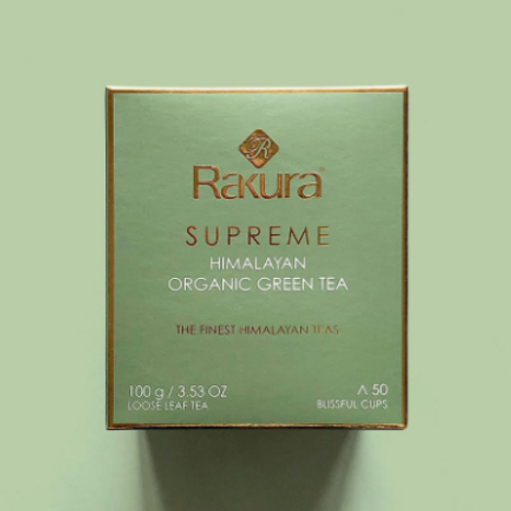 Rakura Supreme Organic Himalayan Green Tea 100 g