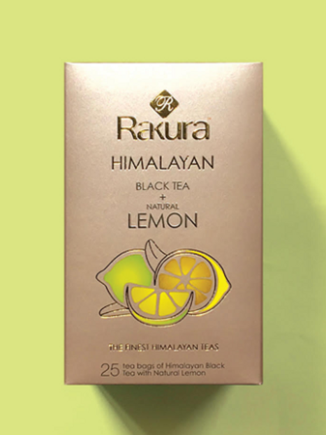 Rakura Himalayan Organic Green Tea + Natural Lemon