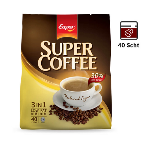 Super COFFEE 3 in 1 Reduced sugar 40's
