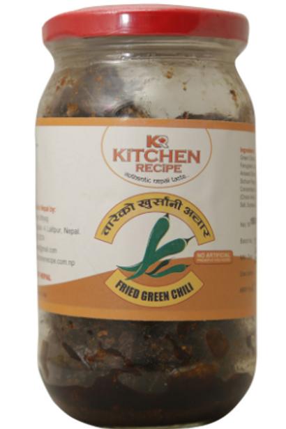 Kitchen Recipe Fried Green Chilli Pickle - 150 g