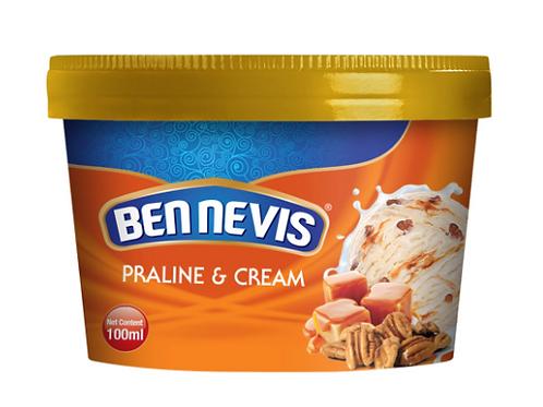 Ben Nevis 100 ml Praline and Cream Ice Cream
