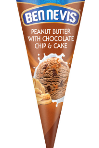 Ben Nevis Peanut Butter Ice Cream With Chocolate Chip and Cake - 120ml