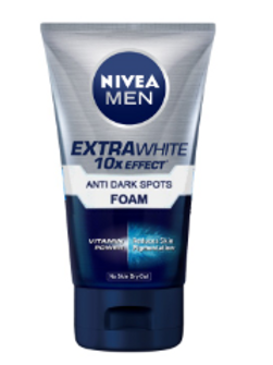 NIVEA Men Extra white 10X Effect Anti Dark Spots Foam - 100 g