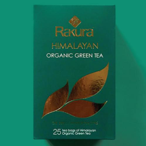 Rakura Himalayan Organic Green Tea 25 Tea Bags
