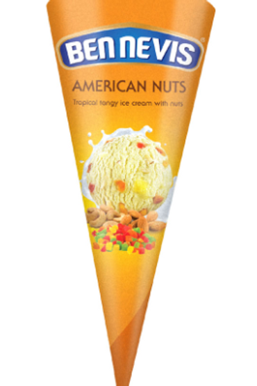 Ben Nevis American Nuts Tropical Tangy Ice Cream With Nuts - 120ml