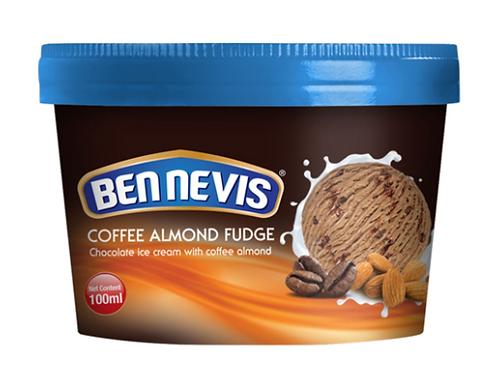 Ben Nevis 100 ml Coffee Almond Fudge Chocolate Ice Cream
