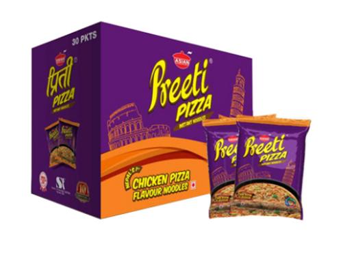 Preeti Chicken Pizza Instant Noodles - 1Box