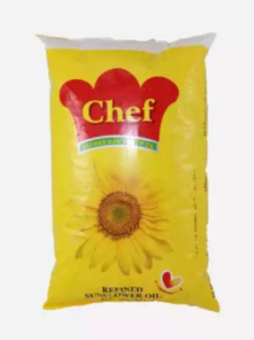 Chef Sunflower Oil Pouch 1 Ltr