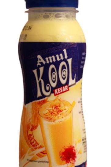 Amul Kool Kesar Flavored Milk - 200ml