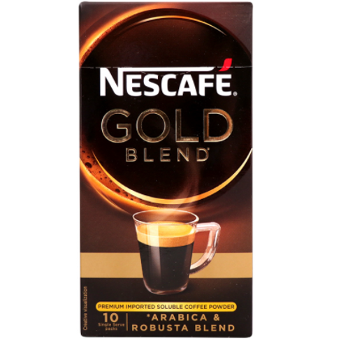 Nescafe Gold Blend 10 Single Serve Packs 15g