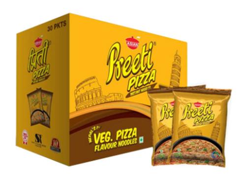 Preeti Veg Pizza Instant Noodles - 1Box