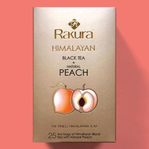 Rakura Himalayan Black Tea + Natural Peach 25 Teabags Pack