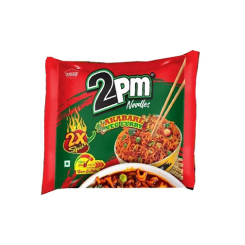 2 PM 2X Spicy Akabare Veg Curry Noodles 100 g