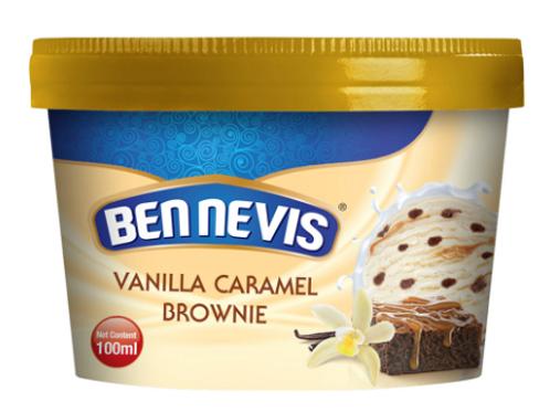 Ben Nevis 100 ml Vanilla Caramel Brownie Ice Cream
