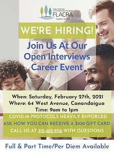 Open Interview Career Event Canandaigua.