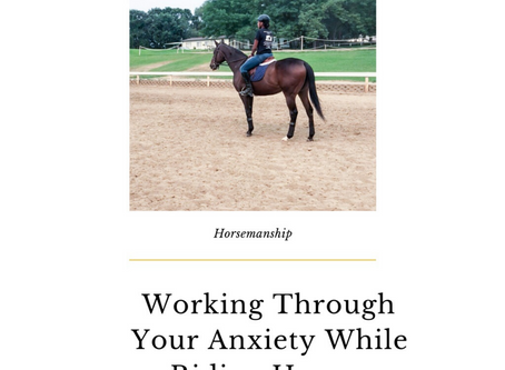 Working through Your Anxiety while Riding Horses
