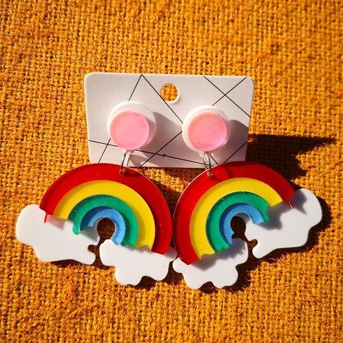 Rainbow Drip Earrings