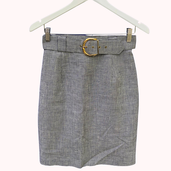 Spots Eight Pencil Skirt With Detachable Belt