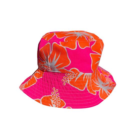 Neon Floral Reversible Bucket Hat