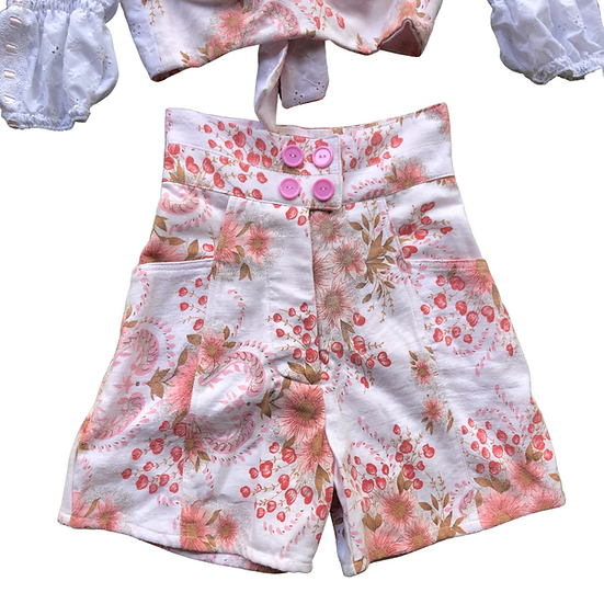 Cherry Blossom Mega High Waisted Shorts