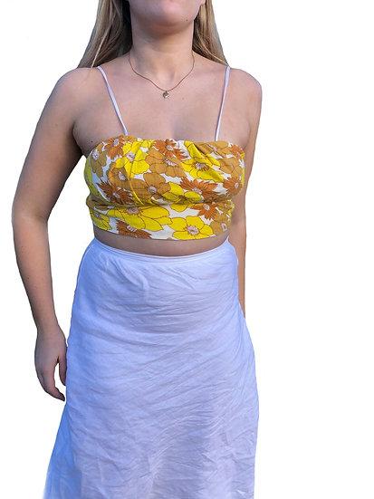 Yellow Reversible Tie Back Crop