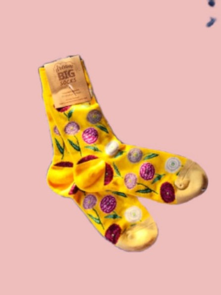 Picnic by the flowers socks