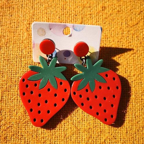Funky Strawberry Earrings