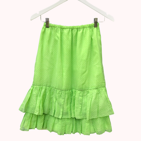 Vintage Up-cycled Ruffle Skirt