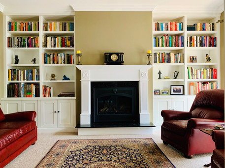 set up bookcase and fire place mantle.jp