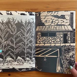 (No) Vacancy, 2019, Do-se-do book, linocut and letterpress