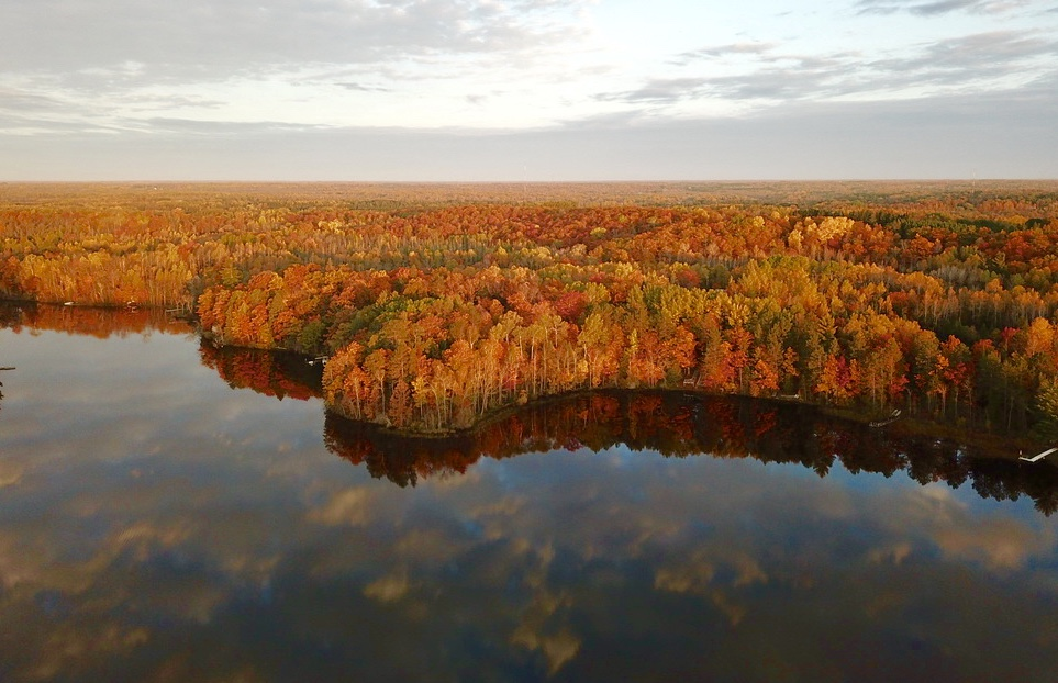 Moose Lake Minnesota fall colors