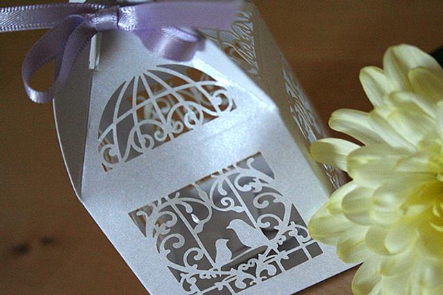 Capercaillie Cards - Wedding favour box - Love Birds