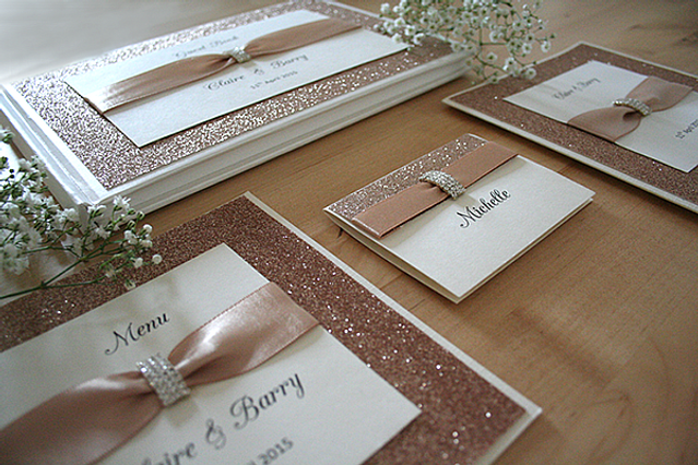 Capercaillie Cards - Wedding stationary - Rose Gold