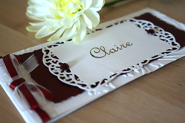 Capercaillie Cards - Wedding name place card - Claire