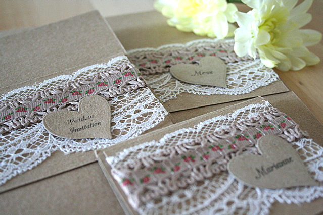 Capercaillie Cards - Wedding stationary - Floral Kraft
