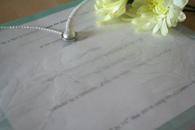 Capercaillie Cards - Wedding invitation card - The Princess Cut