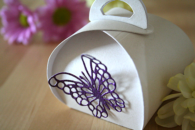 Capercaillie Cards - Wedding favour box - Butterfly Keepsake Box